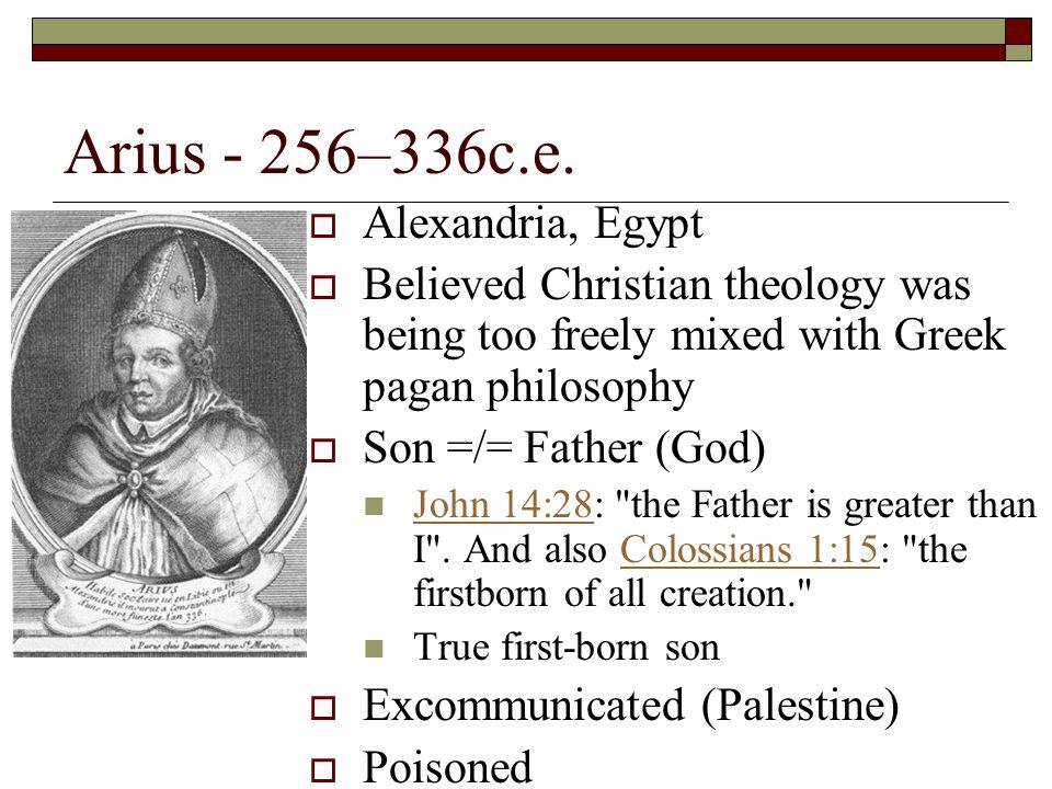 Arius - 256–336c.e. Alexandria, Egypt