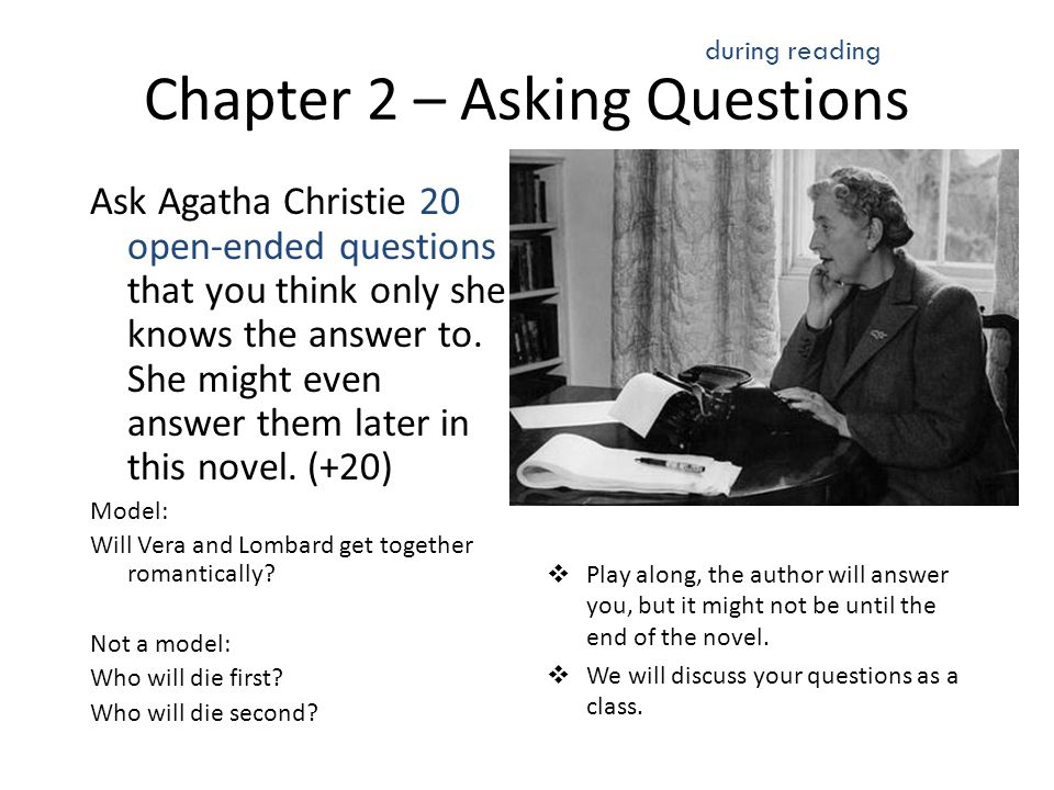 Chapter 2 – Asking Questions