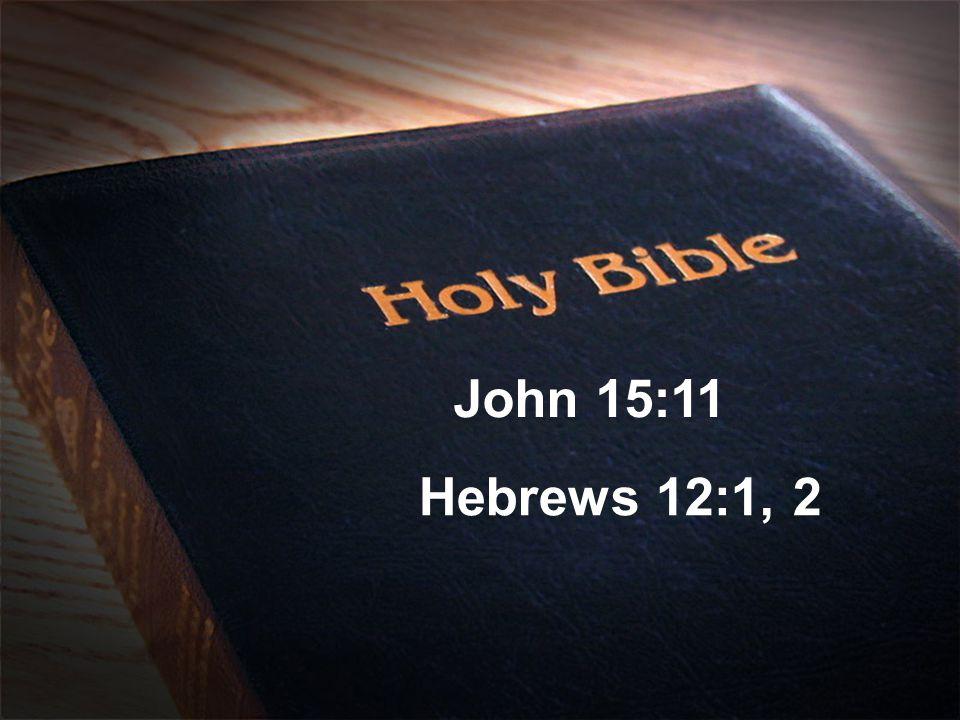 John 15:11 Hebrews 12:1, 2