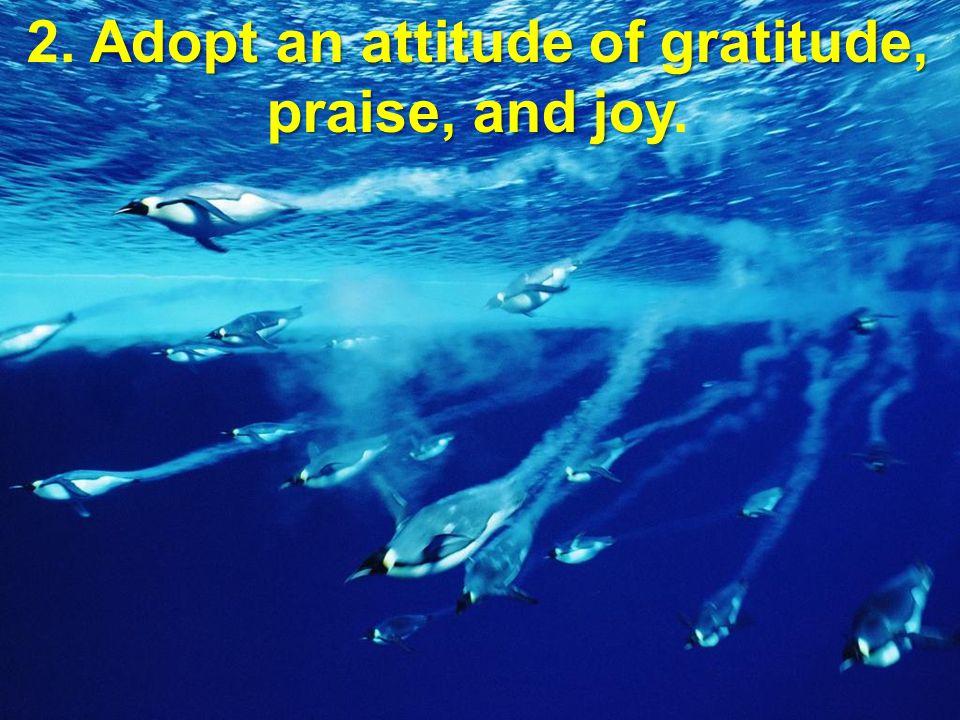 2. Adopt an attitude of gratitude, praise, and joy.