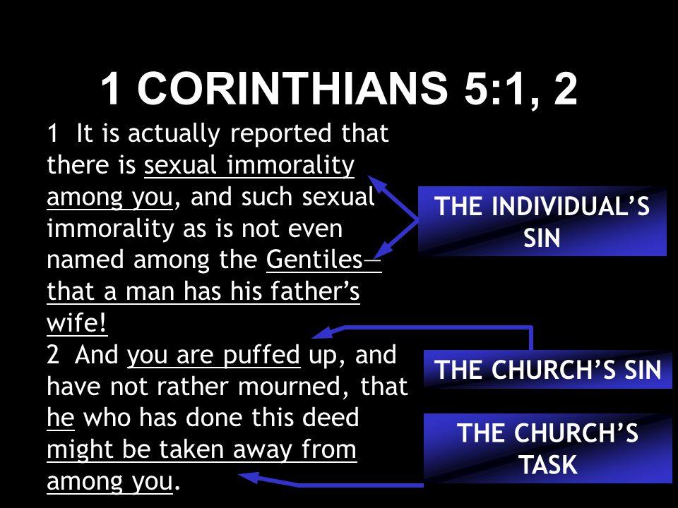 1 CORINTHIANS 5:1, 2