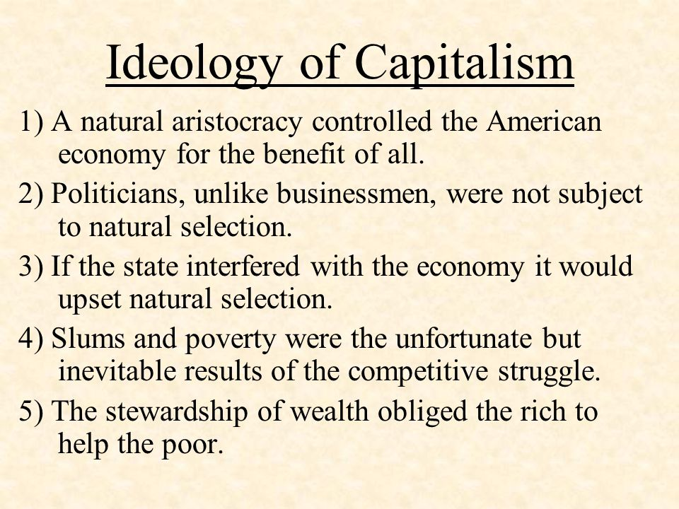 Ideology of Capitalism