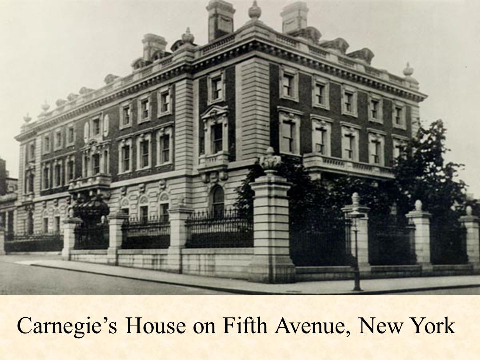Carnegie's House on Fifth Avenue, New York