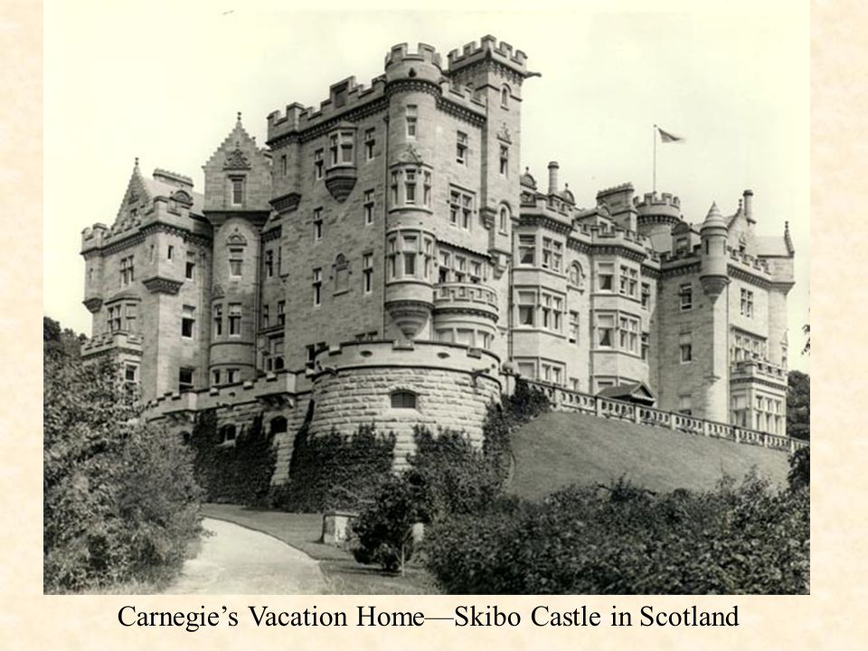 Carnegie's Vacation Home—Skibo Castle in Scotland