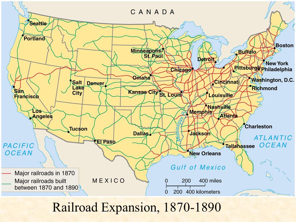 Railroad Expansion, 1870-1890