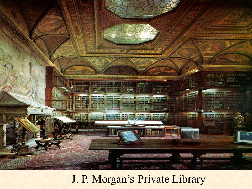 J. P. Morgan's Private Library