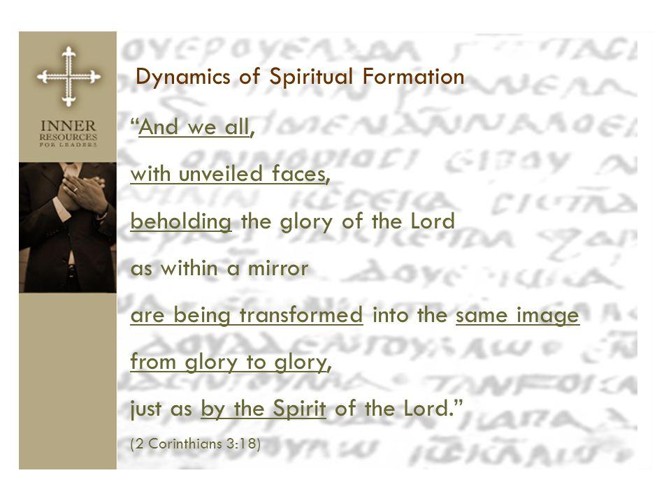 Dynamics of Spiritual Formation