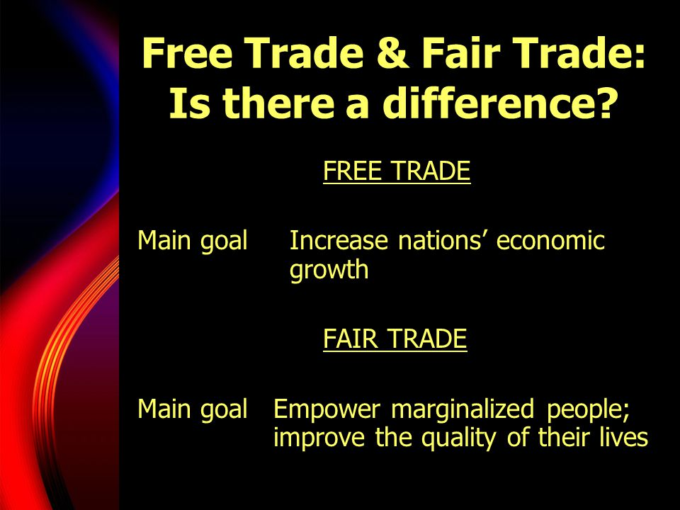 Free Trade & Fair Trade: Is there a difference