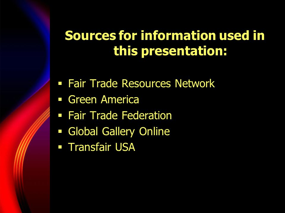 Sources for information used in this presentation: