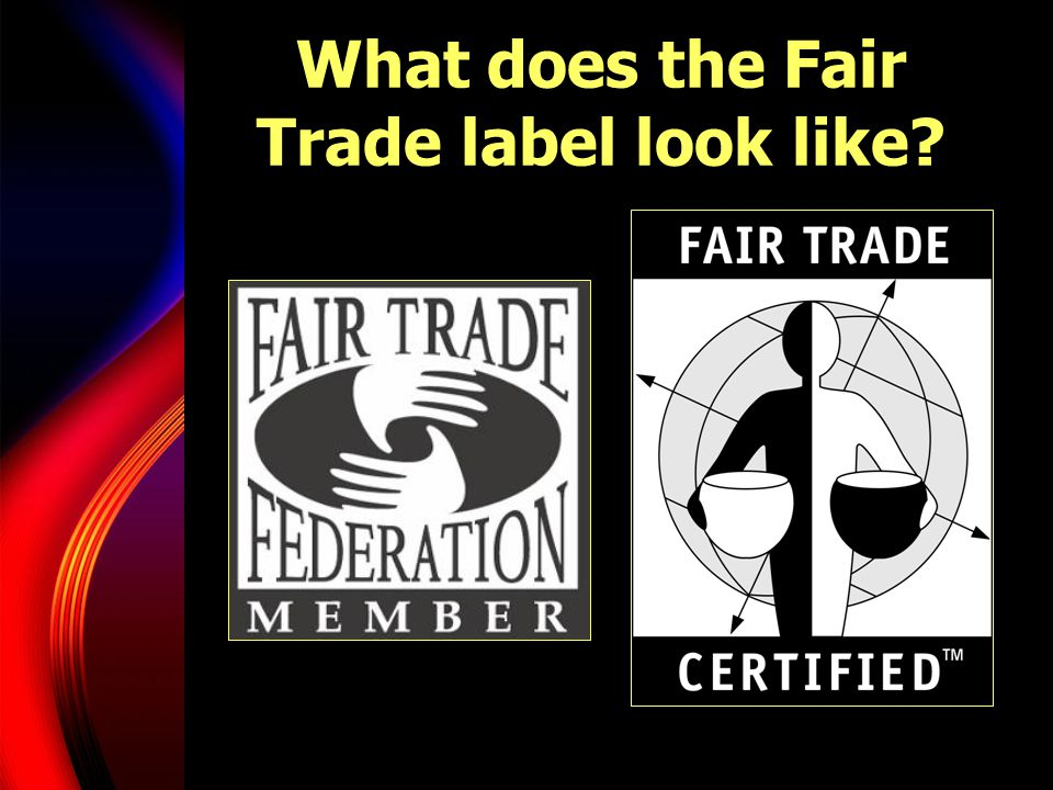 What does the Fair Trade label look like
