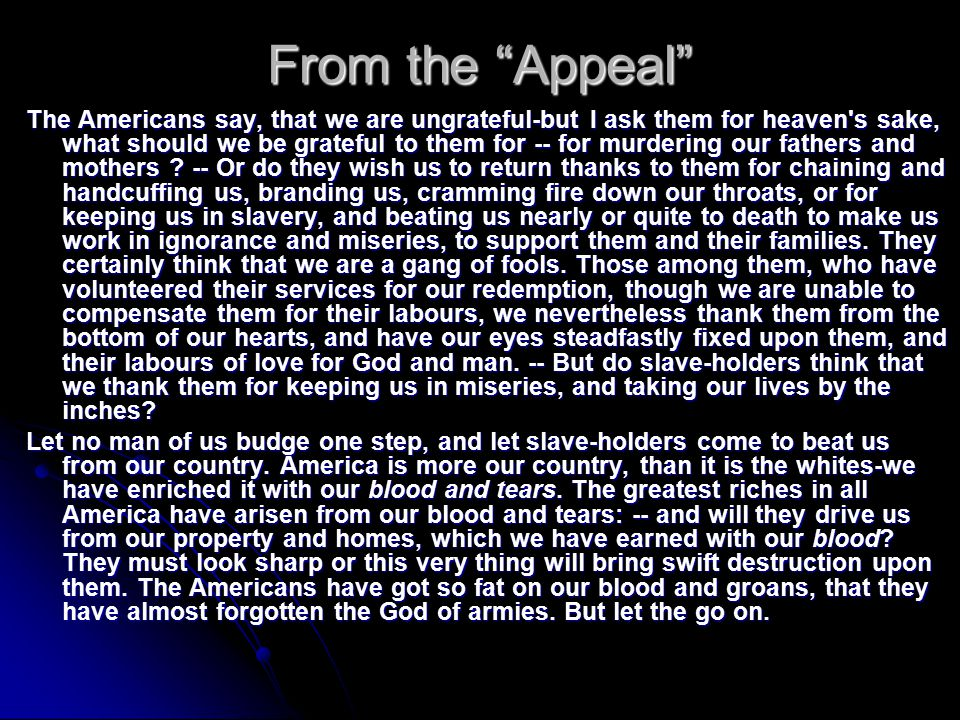 From the Appeal