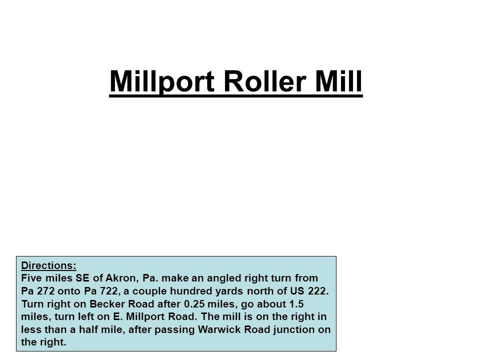 Millport Roller Mill