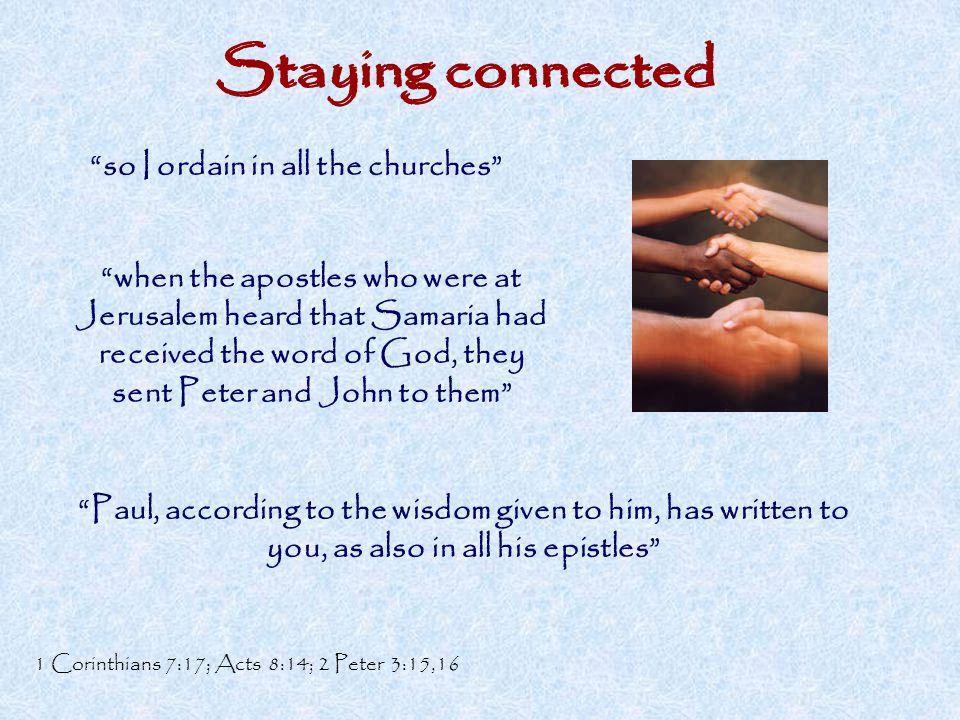 so I ordain in all the churches