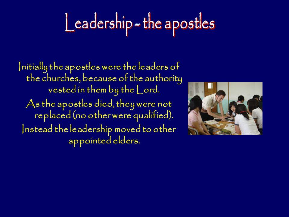 Leadership - the apostles