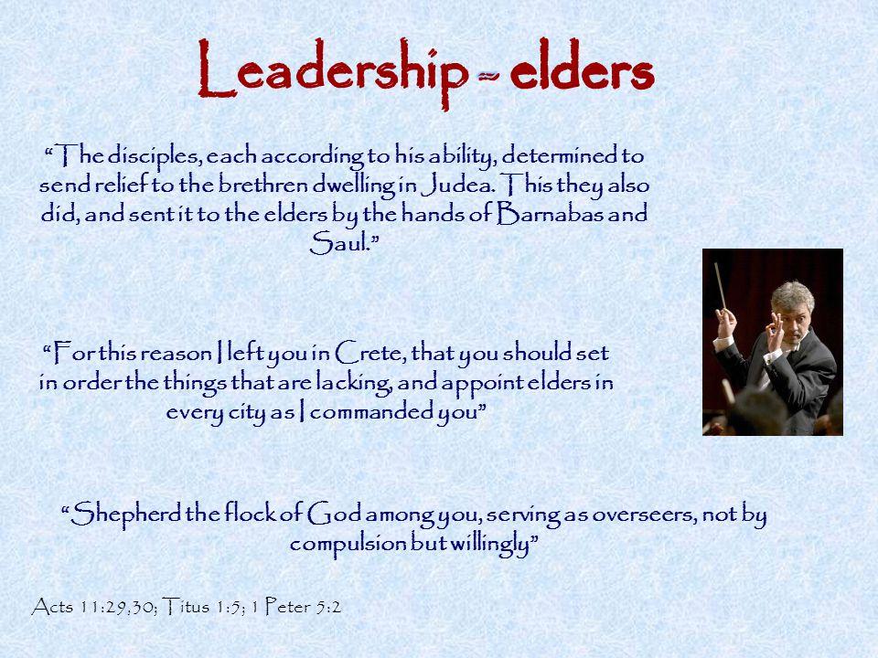 Leadership - elders