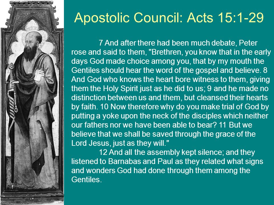 Apostolic Council: Acts 15:1-29