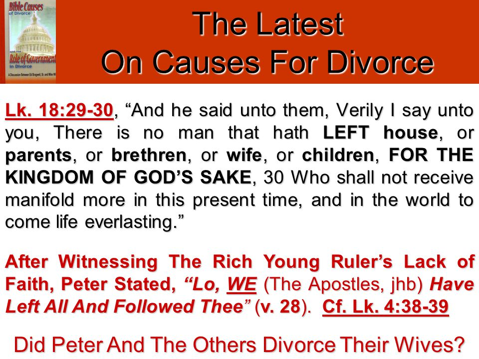 The Latest On Causes For Divorce