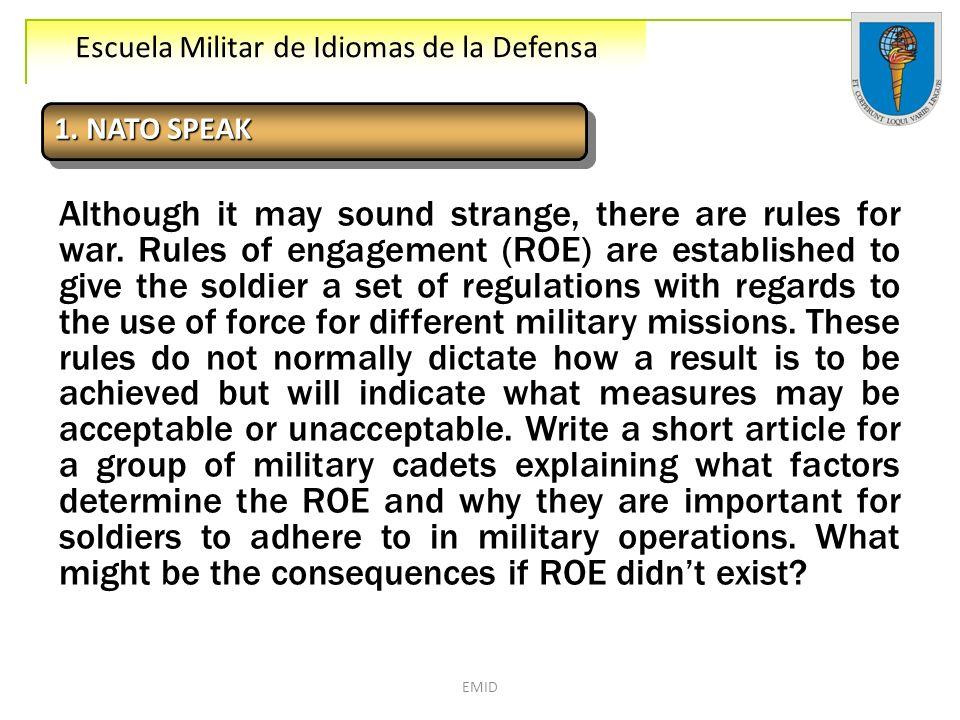 1. NATO SPEAK
