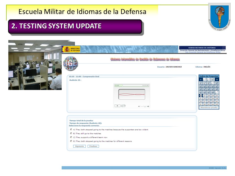 2. TESTING SYSTEM UPDATE 12 examinees 12 examinees 12 examinees