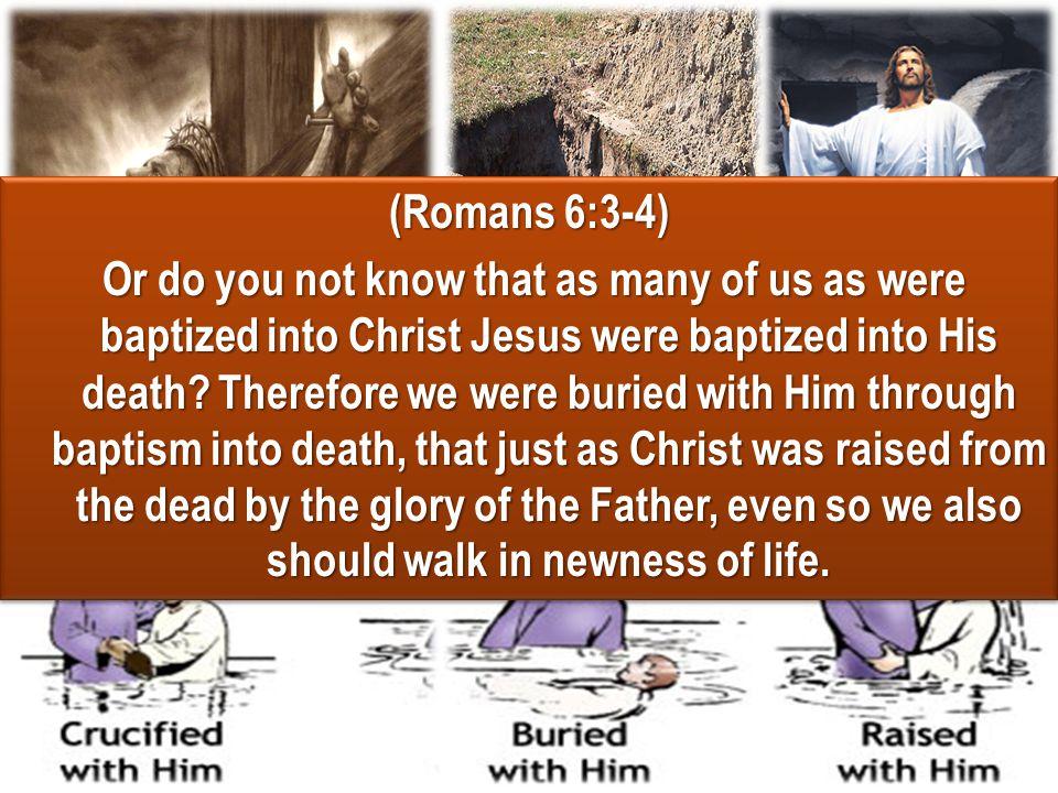 (Romans 6:3-4)