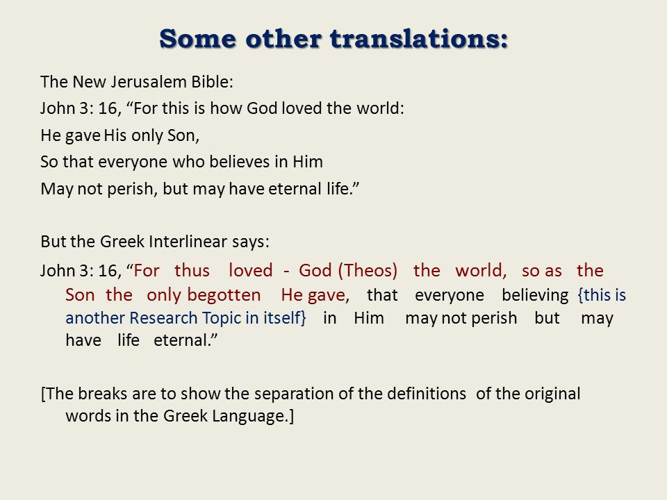 Some other translations:
