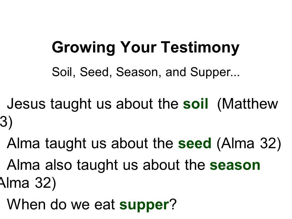 Growing Your Testimony