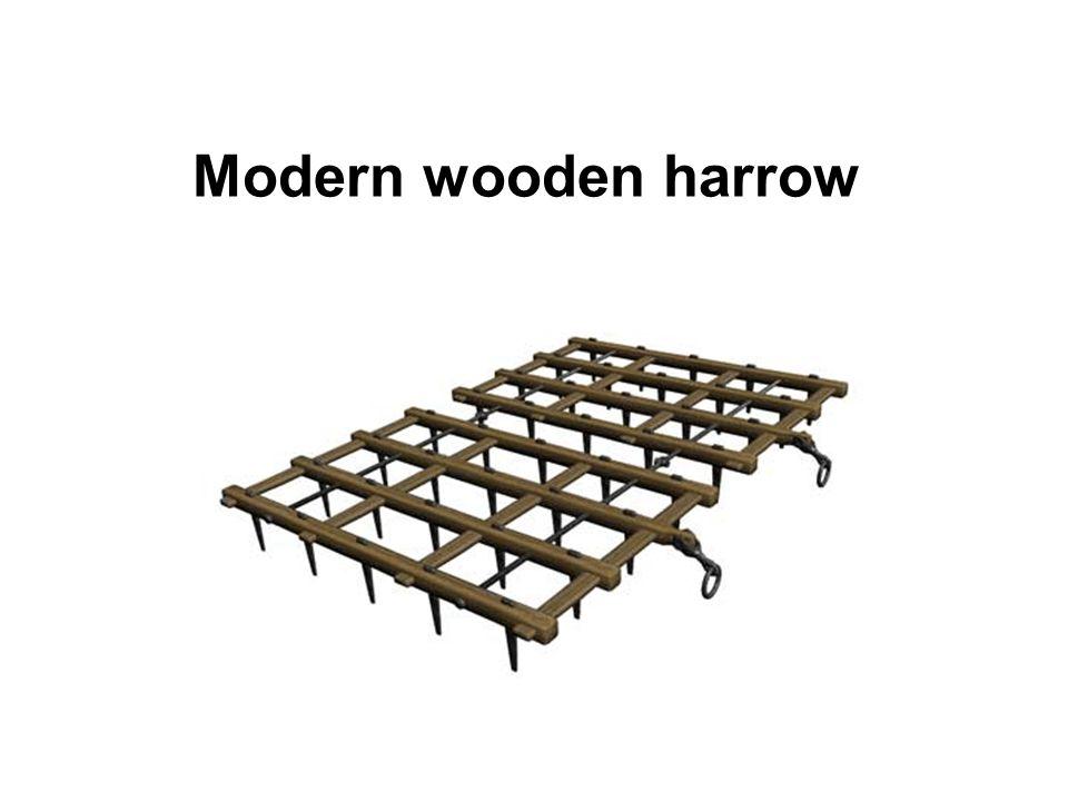 Modern wooden harrow