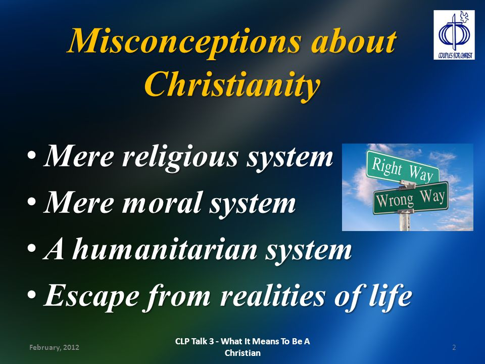 Misconceptions about Christianity