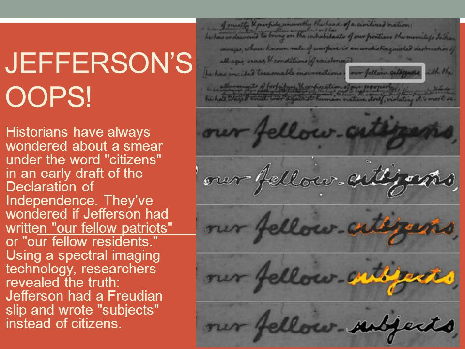 Jefferson's Oops!