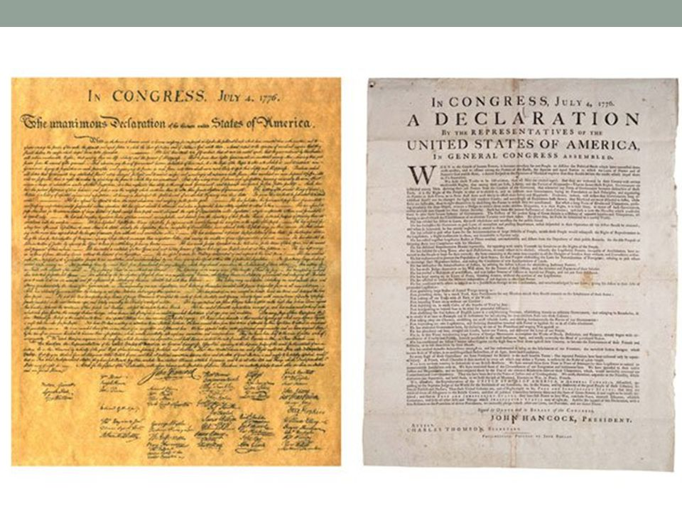 In 1989, a bargain hunter who bought an old and torn painting for $4 at a flea market found an old copy of the Declaration of Independence tucked away between the canvas and the frame!