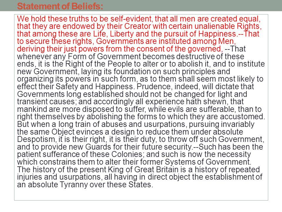 Statement of Beliefs: