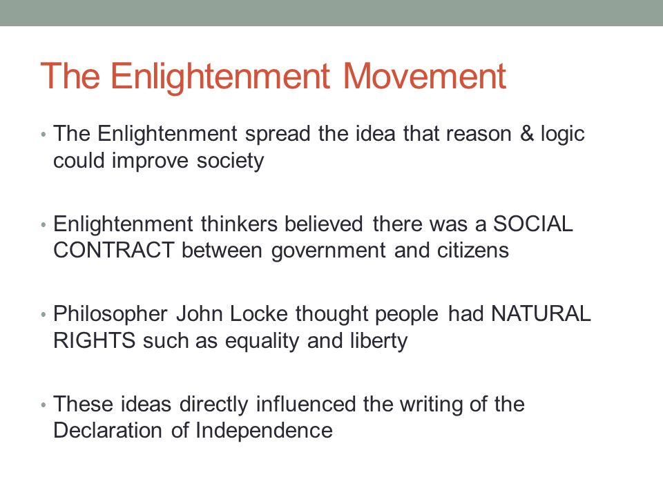 The Enlightenment Movement
