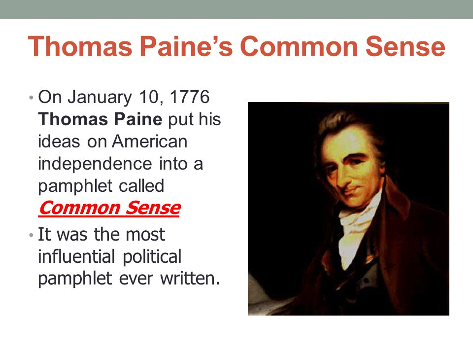Thomas Paine's Common Sense