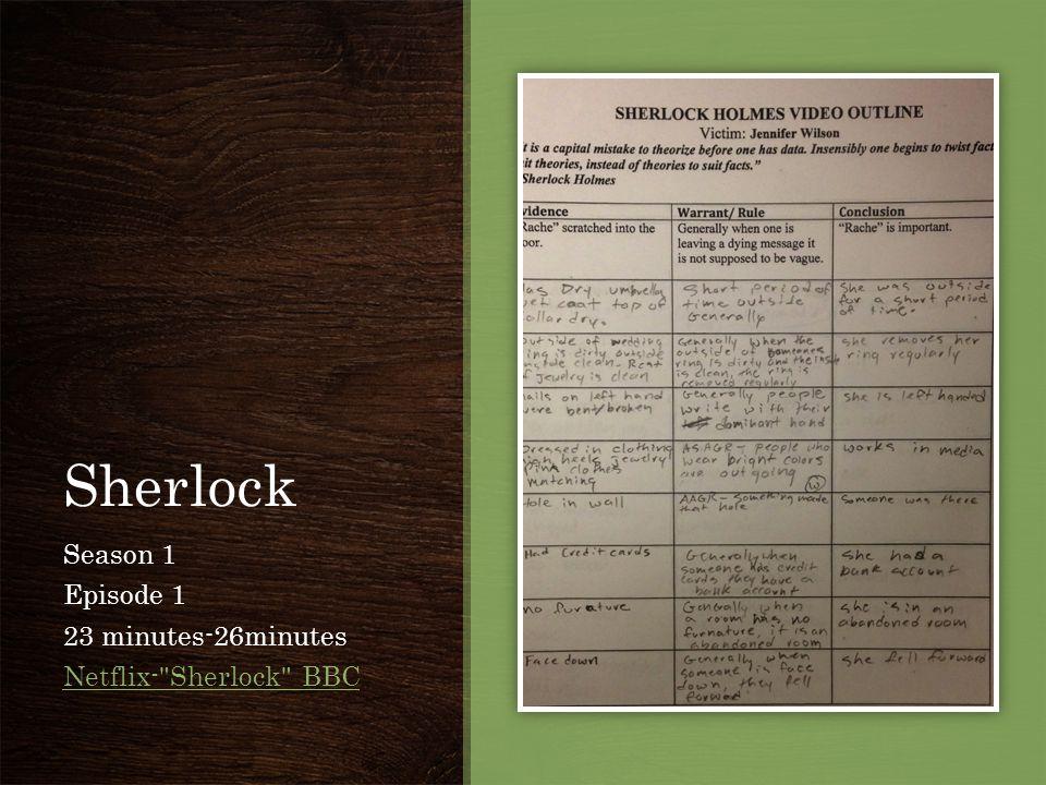 Sherlock Season 1 Episode 1 23 minutes-26minutes