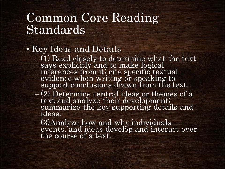 Common Core Reading Standards