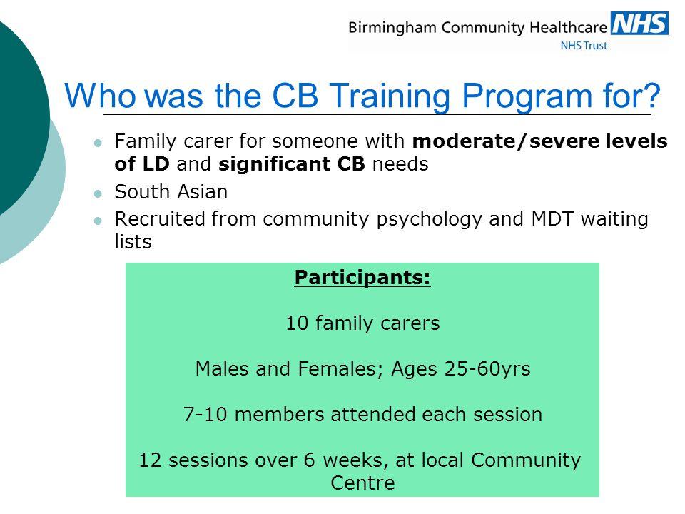 Who was the CB Training Program for