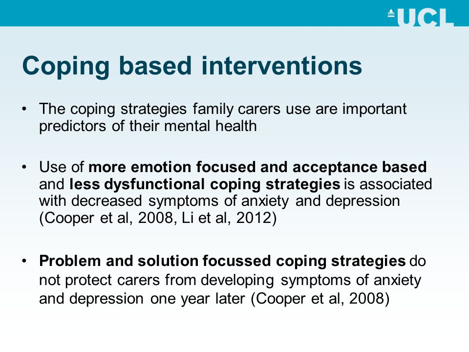 Coping based interventions