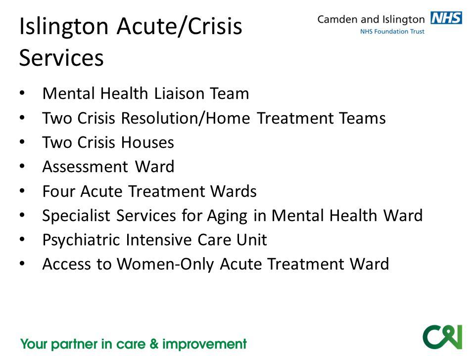 Islington Acute/Crisis Services