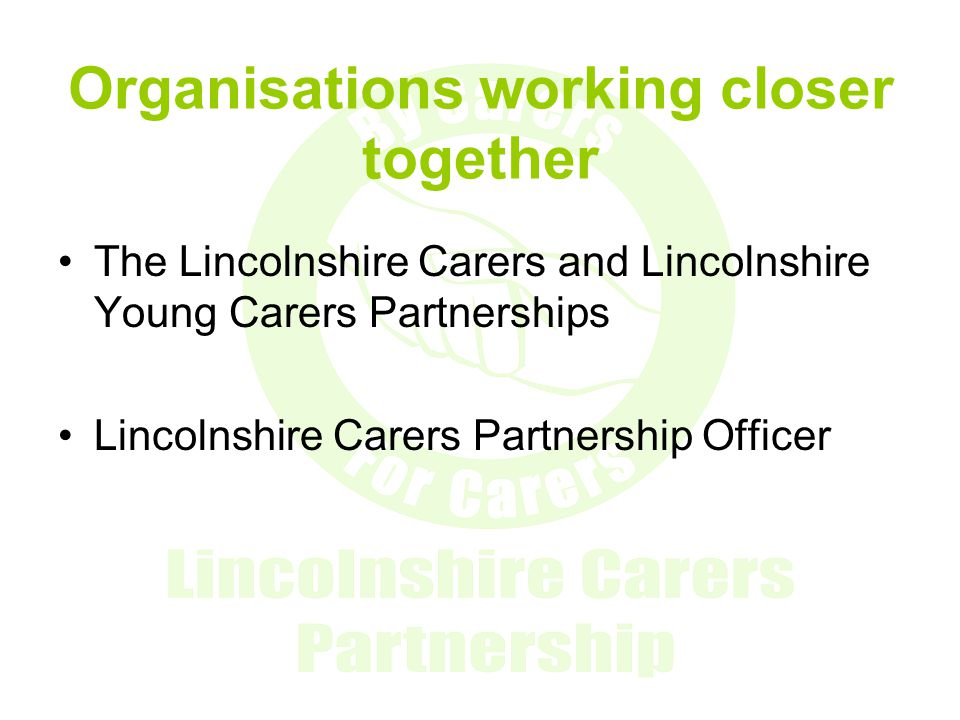 Organisations working closer together