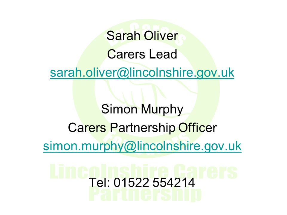 Carers Partnership Officer