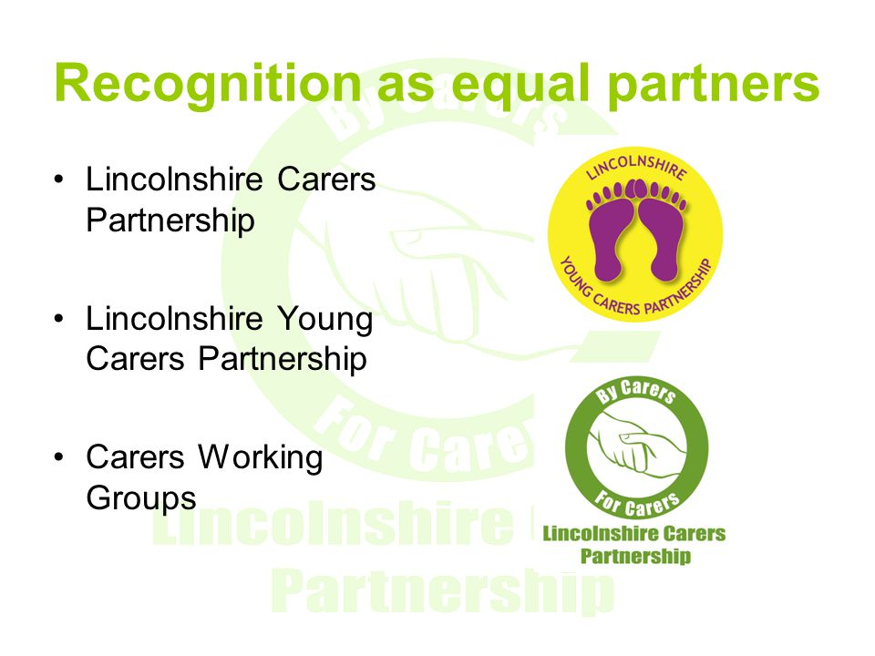 Recognition as equal partners