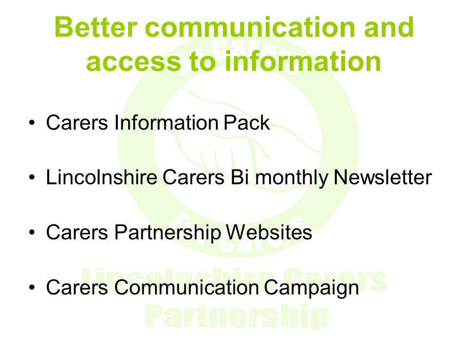 Better communication and access to information