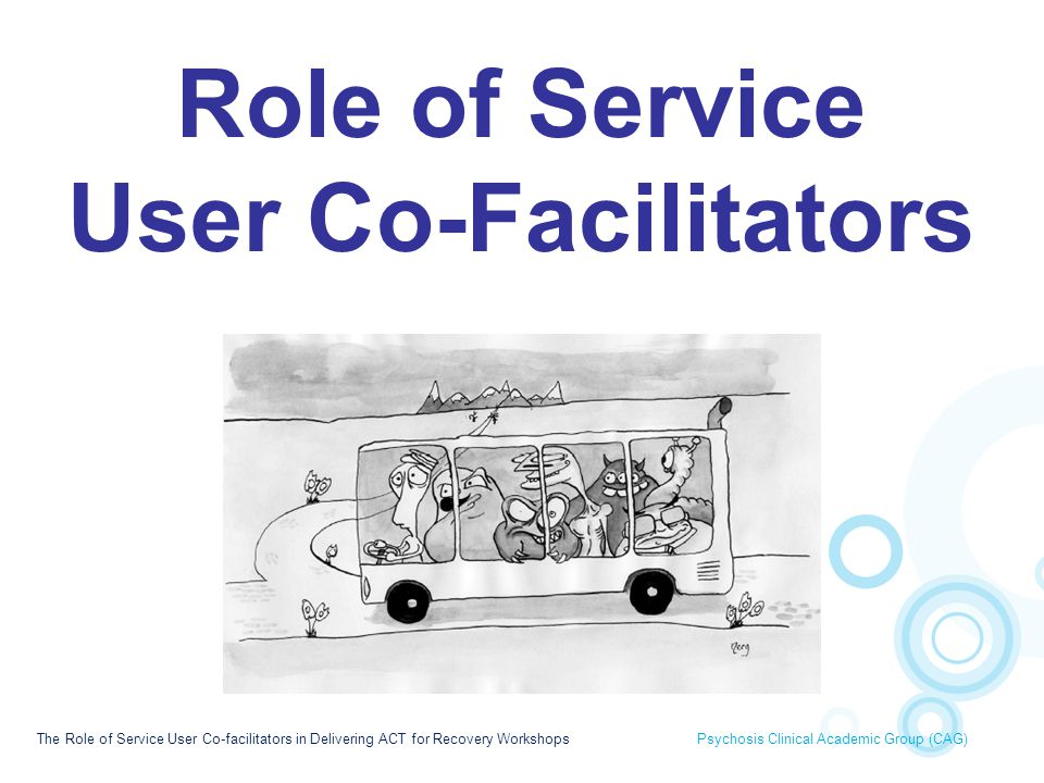 Role of Service User Co-Facilitators