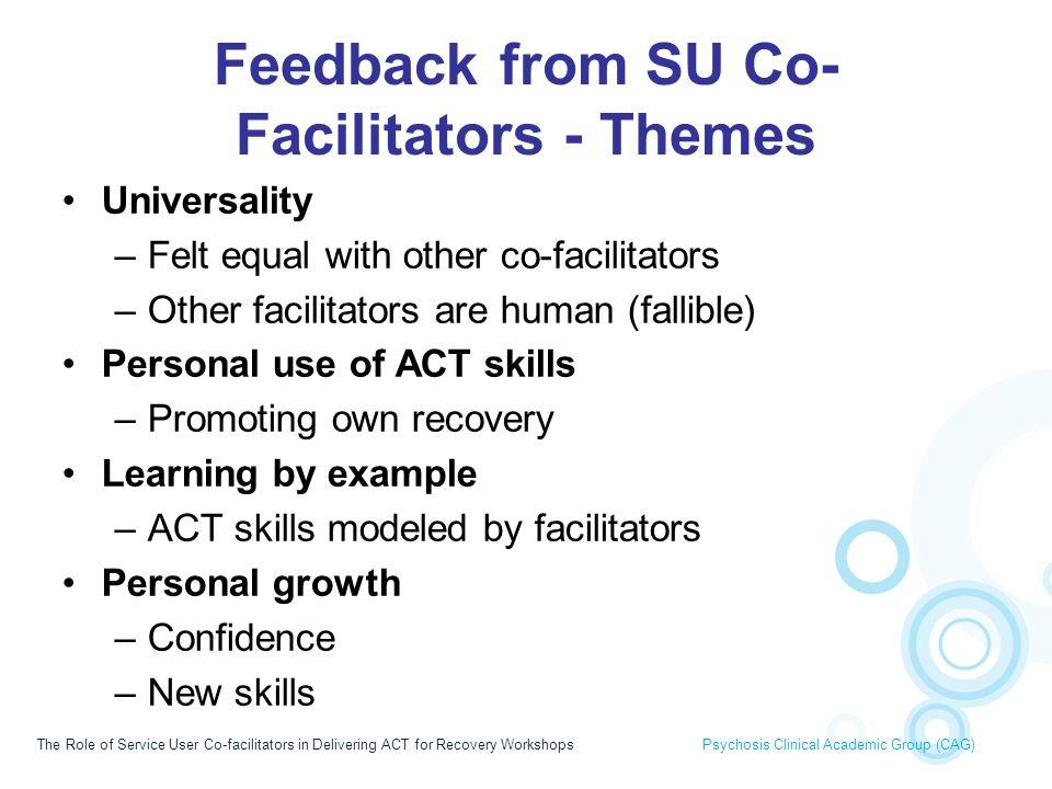 Feedback from SU Co-Facilitators - Themes