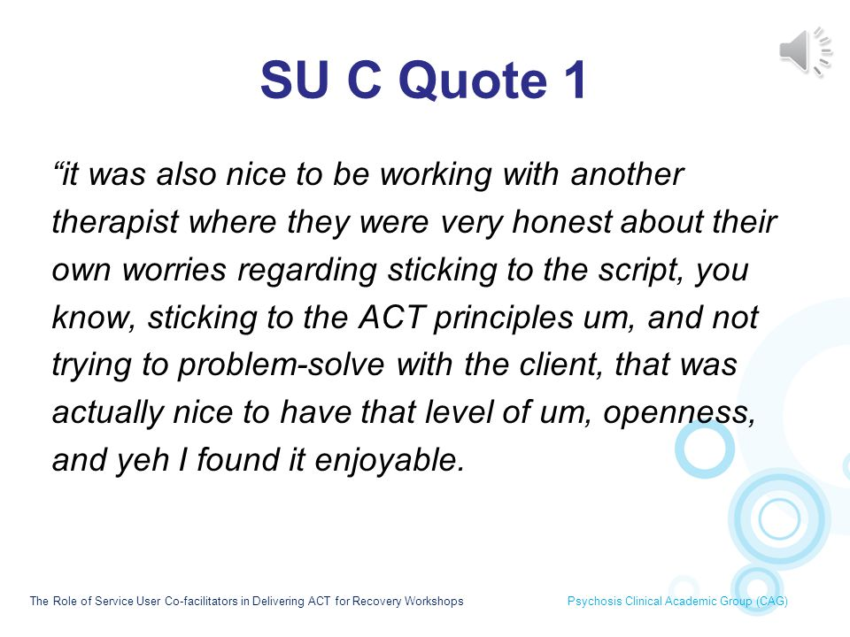 SU C Quote 1 it was also nice to be working with another
