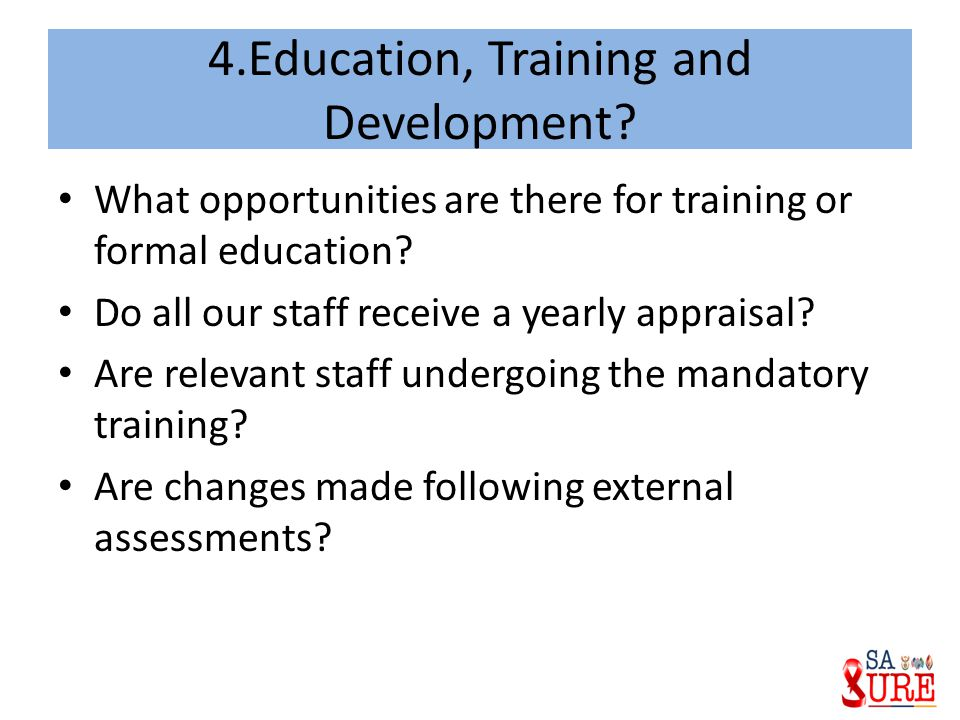 4.Education, Training and Development