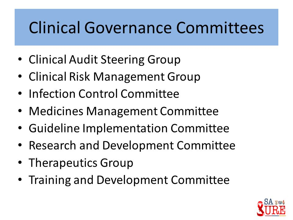 Clinical Governance Committees