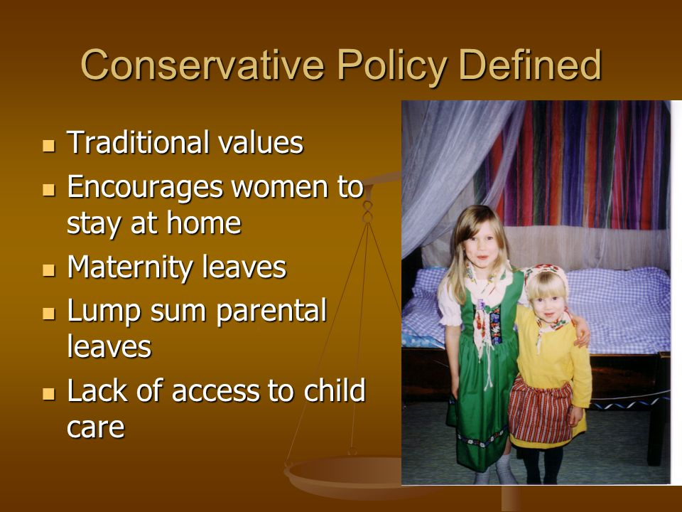 Conservative Policy Defined