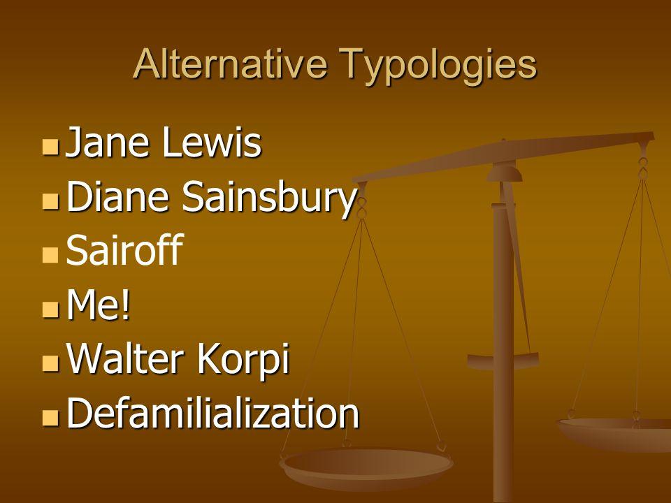 Alternative Typologies