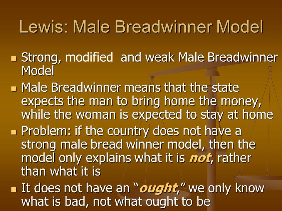 Lewis: Male Breadwinner Model